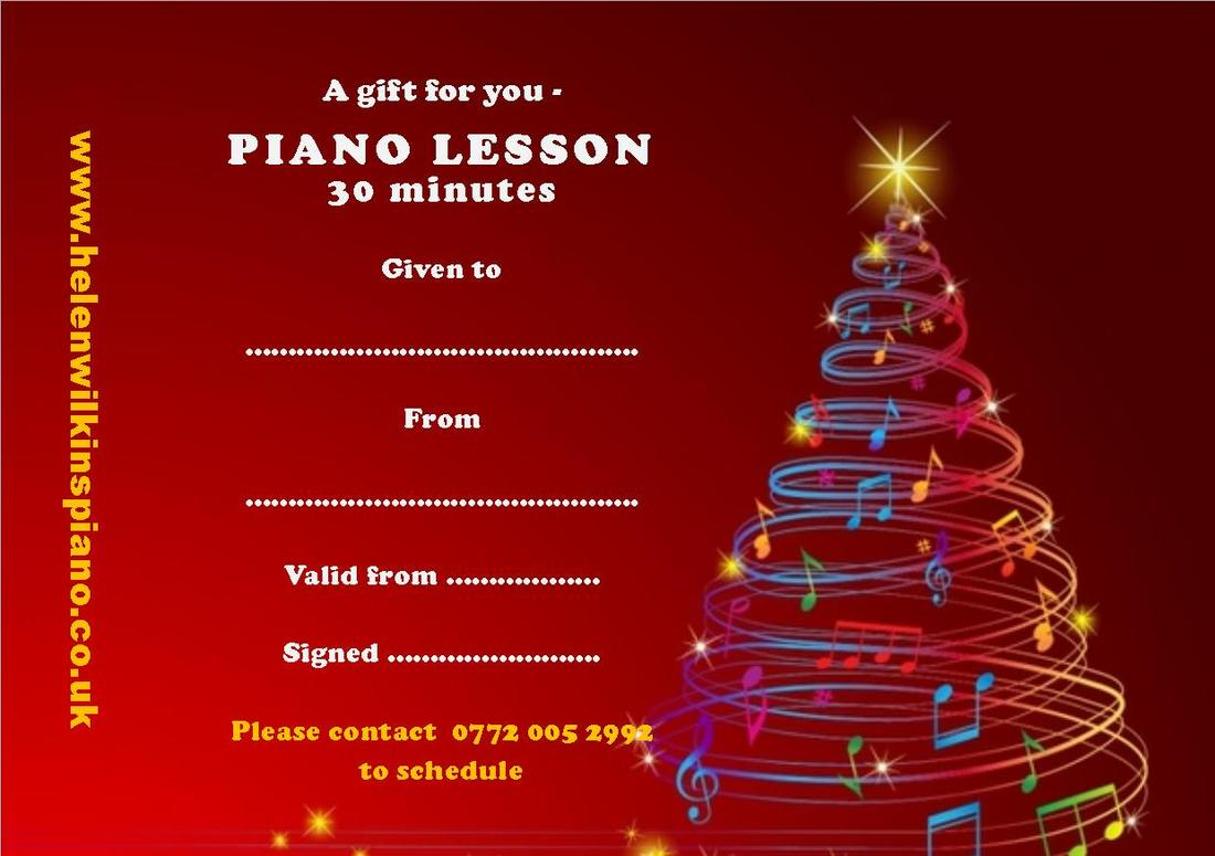christmas gift vouchers classical pianist teacher and accompanist